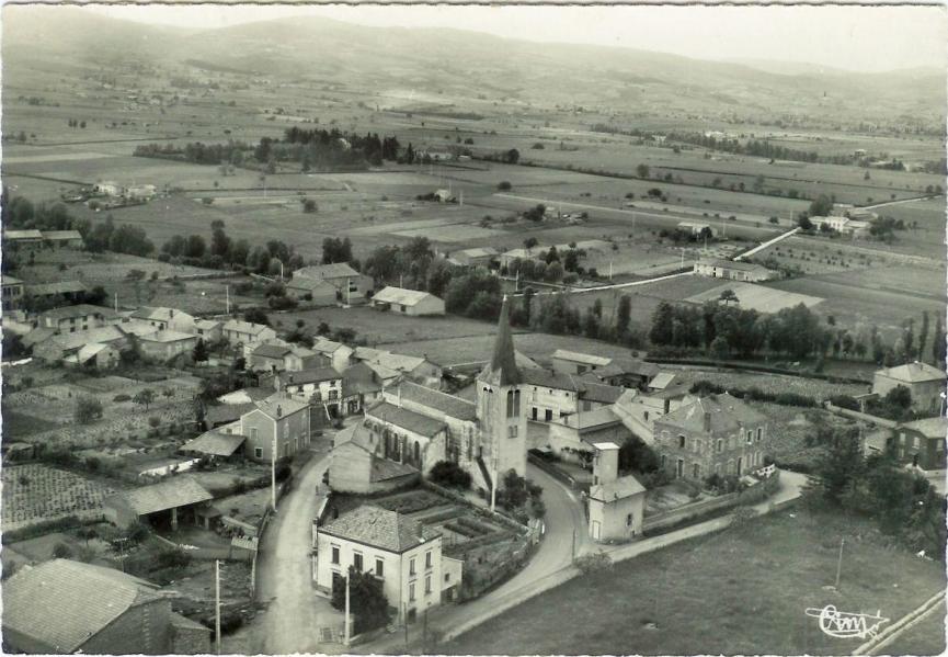 Le bourg en 1945