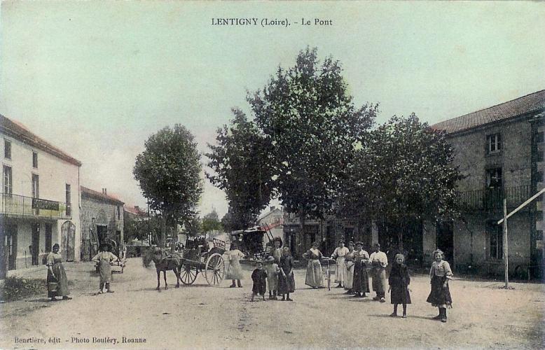 Le pont vers 1900